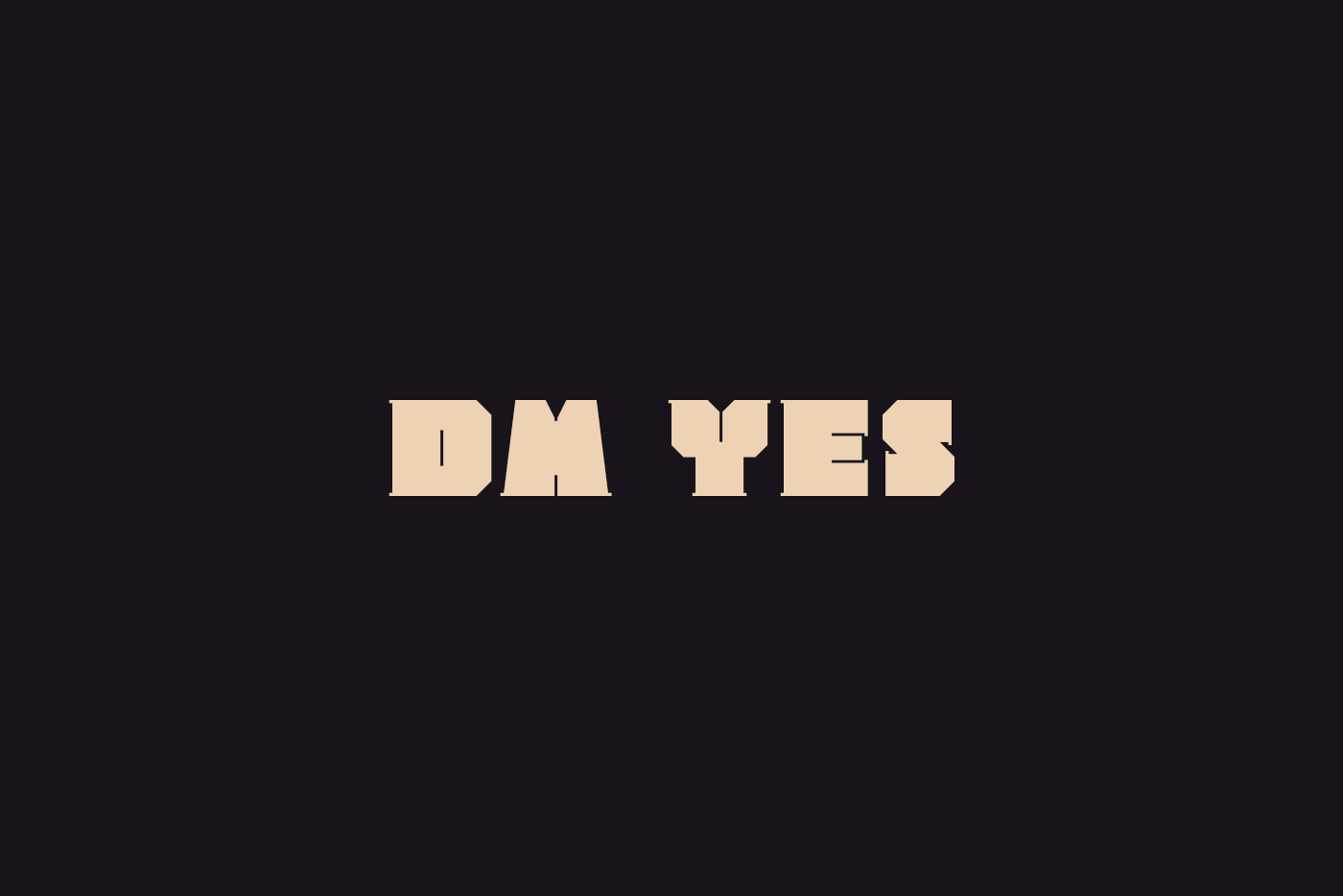 dm Yes Free Font - decorative-display