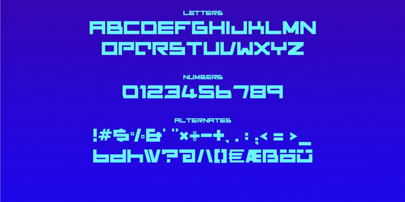 DREDD Free Font - decorative-display