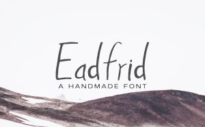 Eadrifd Free Handmade Font -
