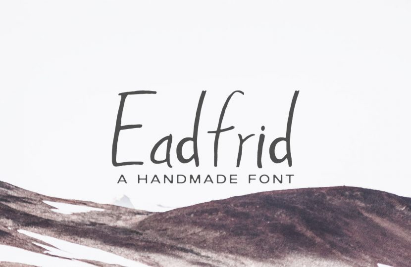 Eadrifd Free Handmade Font - script