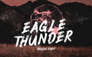 Eagle Thunder Free Brush Font - script