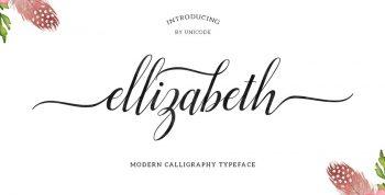 Ellizabeth Free Script Font - script