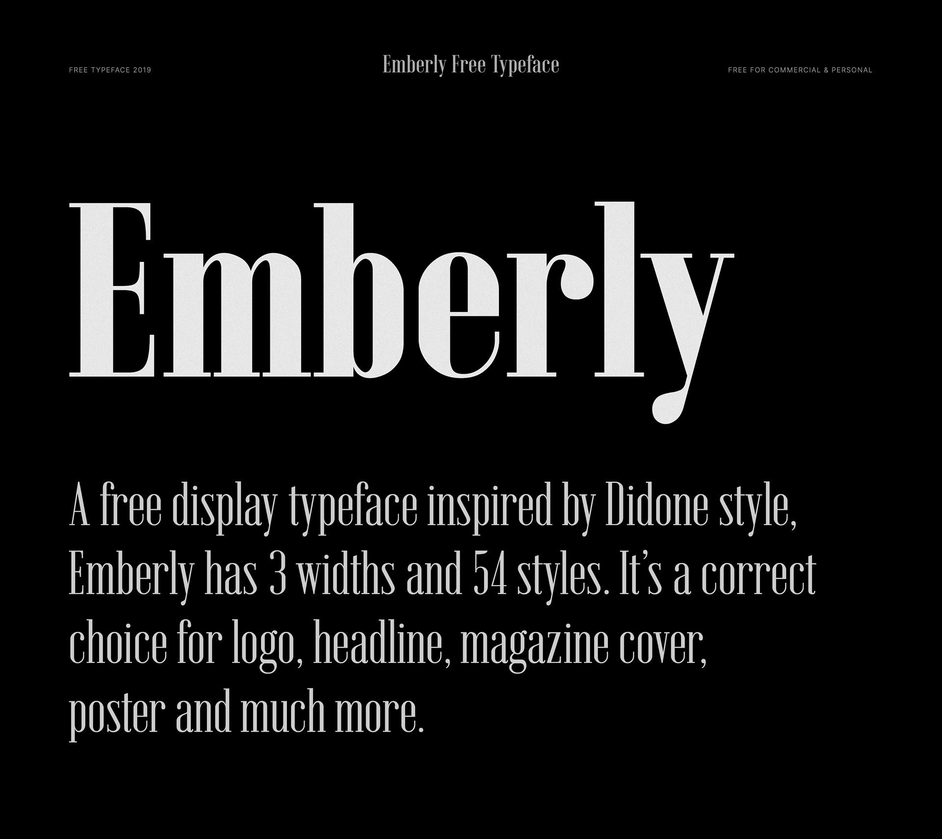Emberly Free Font - sans-serif