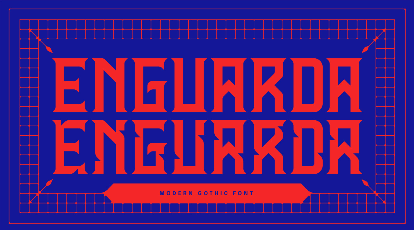 Enguarda Free Font - decorative-display
