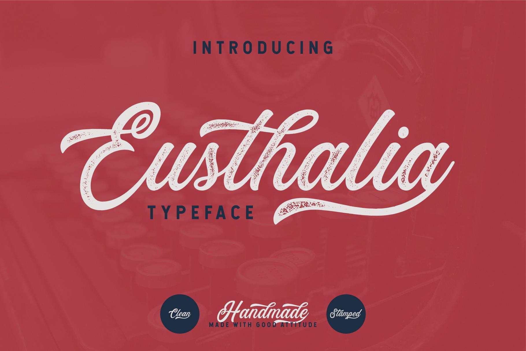Eusthalia Free Typeface - script