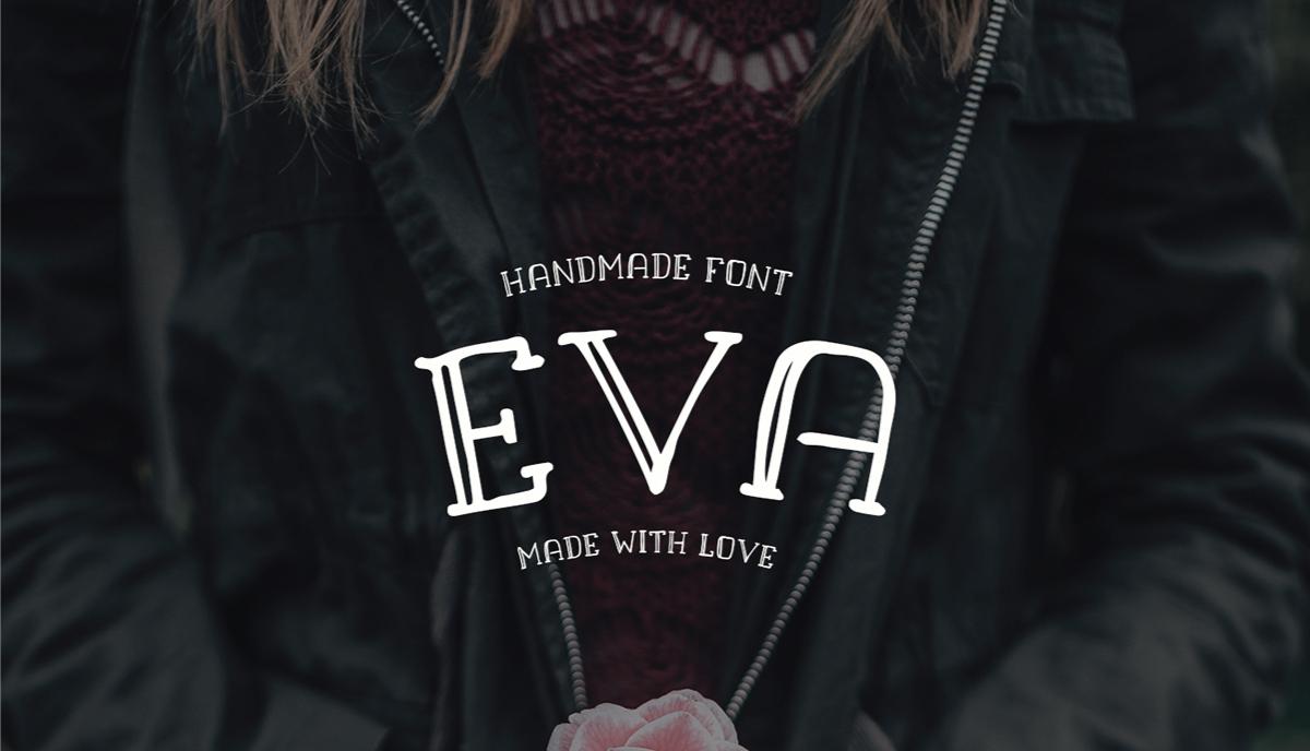 EVA Free Handmade Font