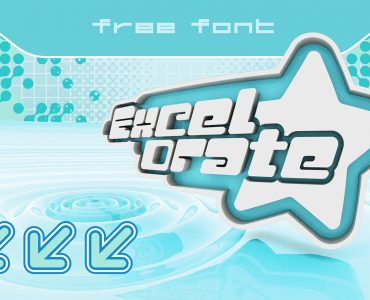 Excelorate Free Font - decorative-display