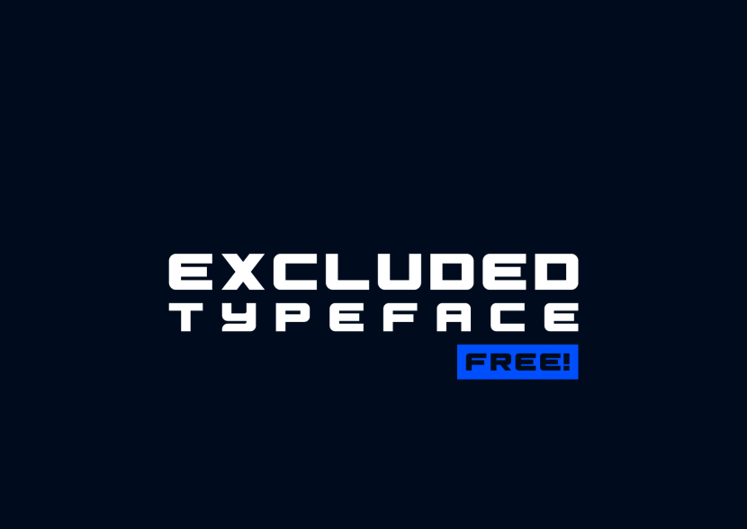 Excluded Free Font - sans-serif