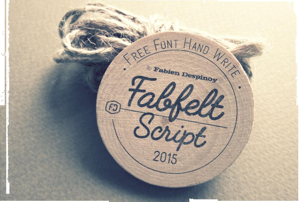 Fabfelt Free font - script
