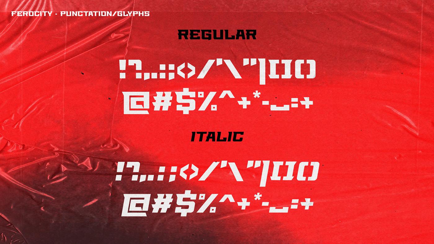 Ferocity Free Font - serif, decorative-display