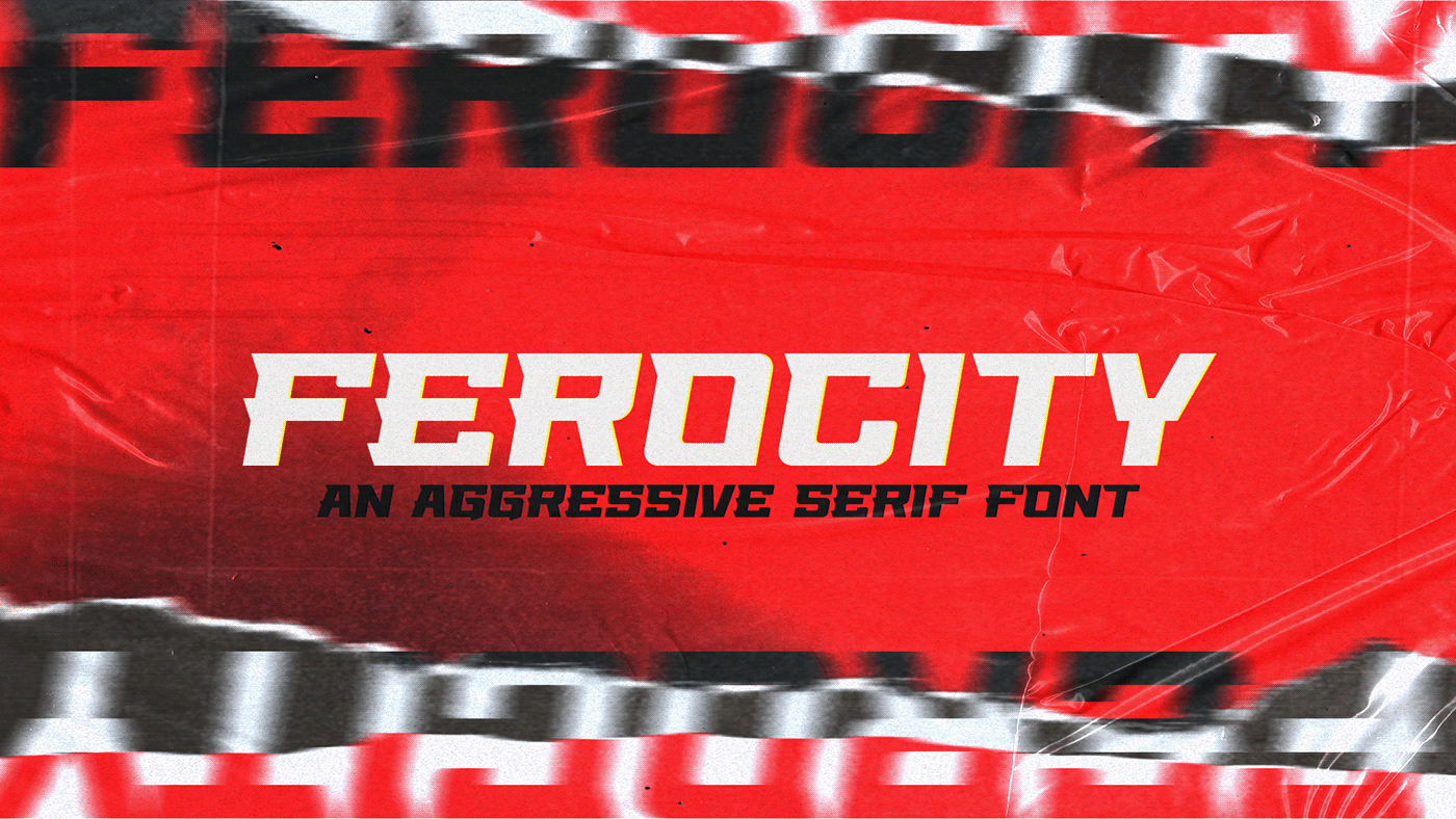 Ferocity Free Font - serif, decorative-display