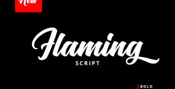 Flaming Free Script Font - script