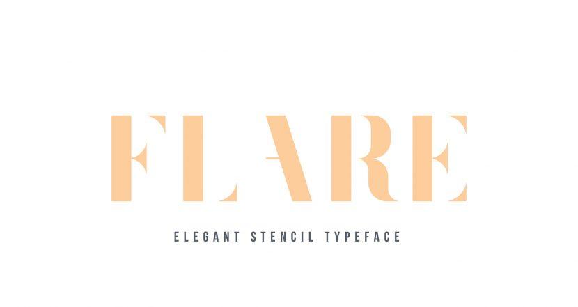 Flare Free Typeface - sans-serif, decorative