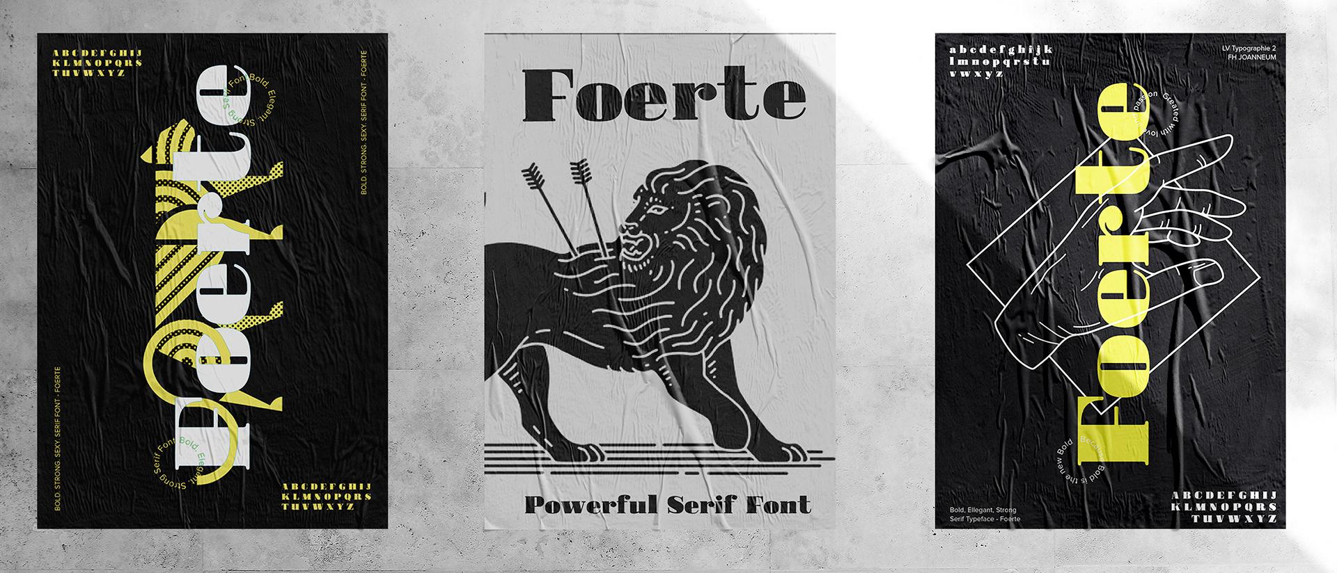 Foerte Free Font - serif