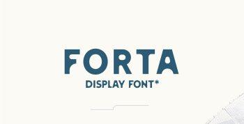 FORTA Free Font - decorative