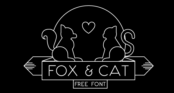 Fox & Cat Free Font - sans-serif