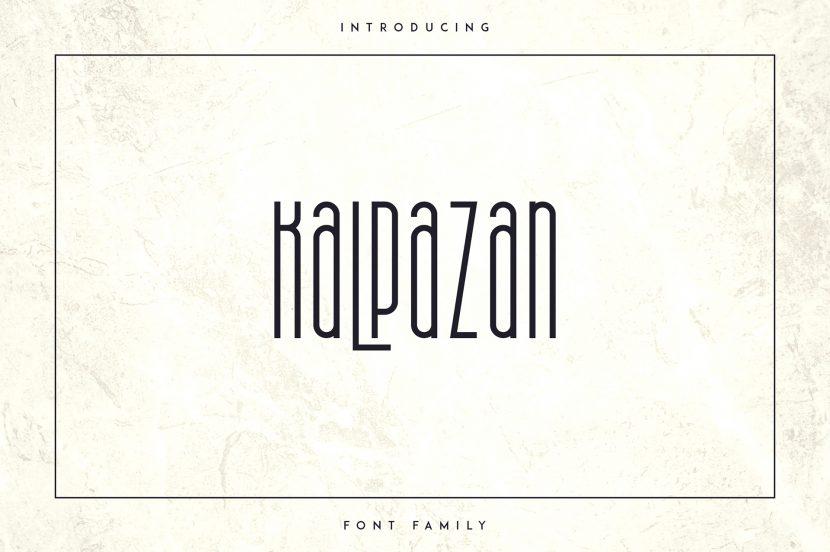 Kalpazan Free Font - decorative