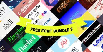 +100 Free font bundle 3 - collections-fonts