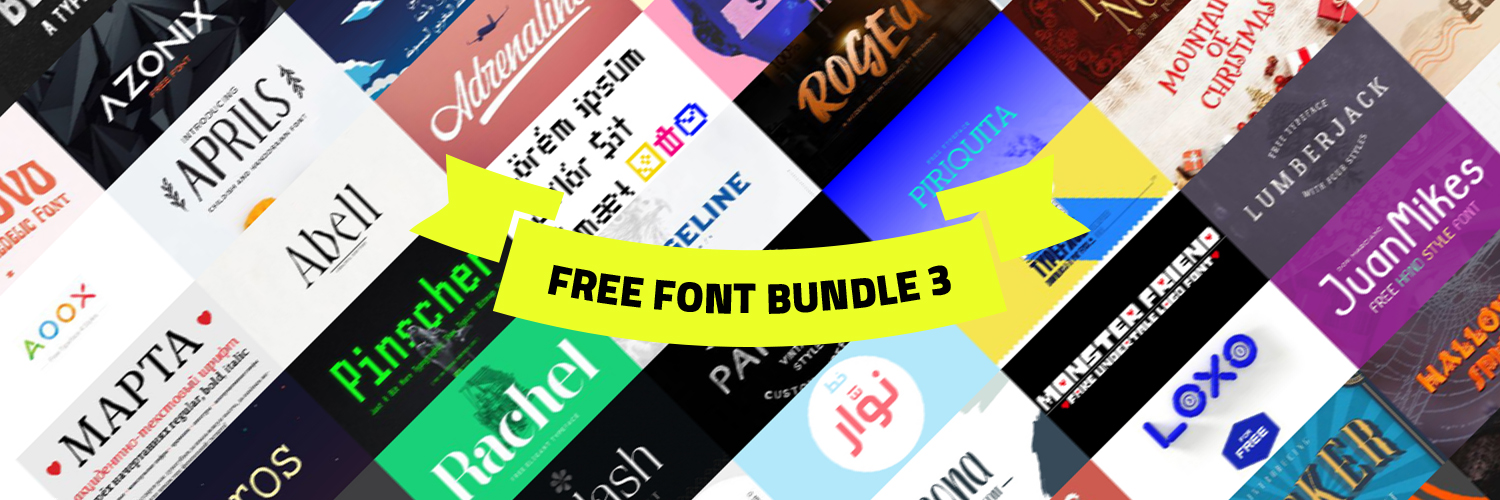 +100 Free font bundle 3 - collections-fonts