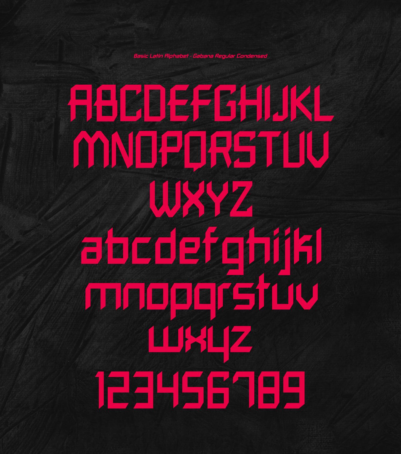 Gabana Free Font - sans-serif, decorative-display