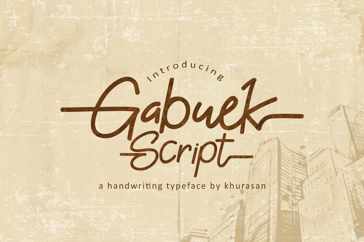 Gabuek Free Font - script