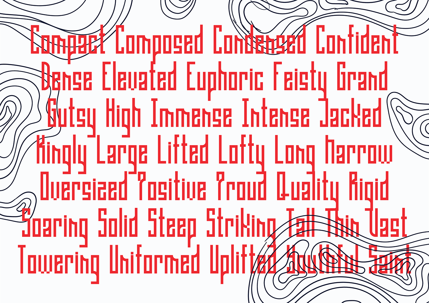 Gaia Condensed Free Font - decorative-display