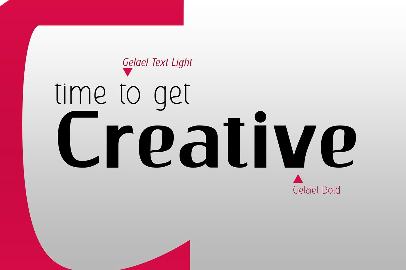 Gelael Free Font - sans-serif