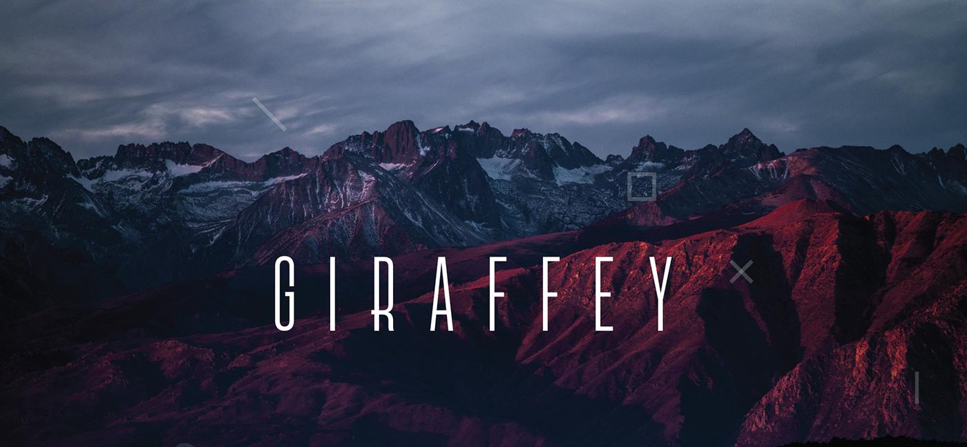 Giraffey Free Font - sans-serif