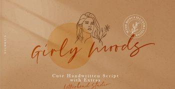 Girly Moods Free Script Font - script