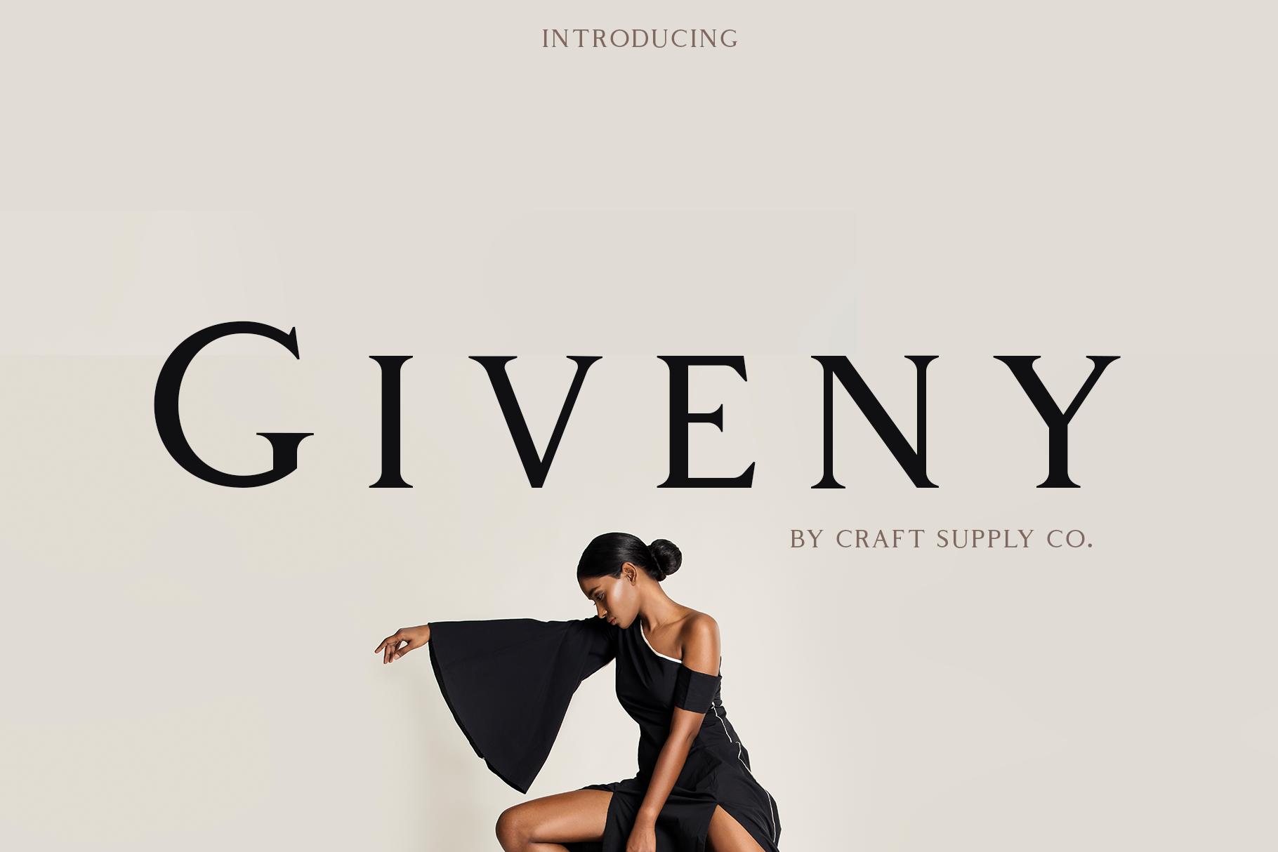 Giveny Free Serif Font - serif