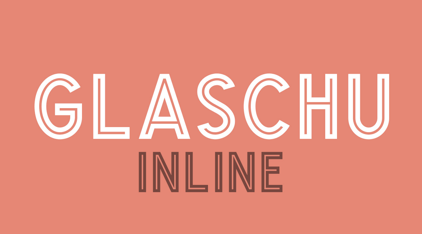 Glaschu Inline Free Font - decorative-display