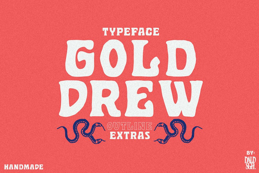 Golddrew Free Font - decorative-display