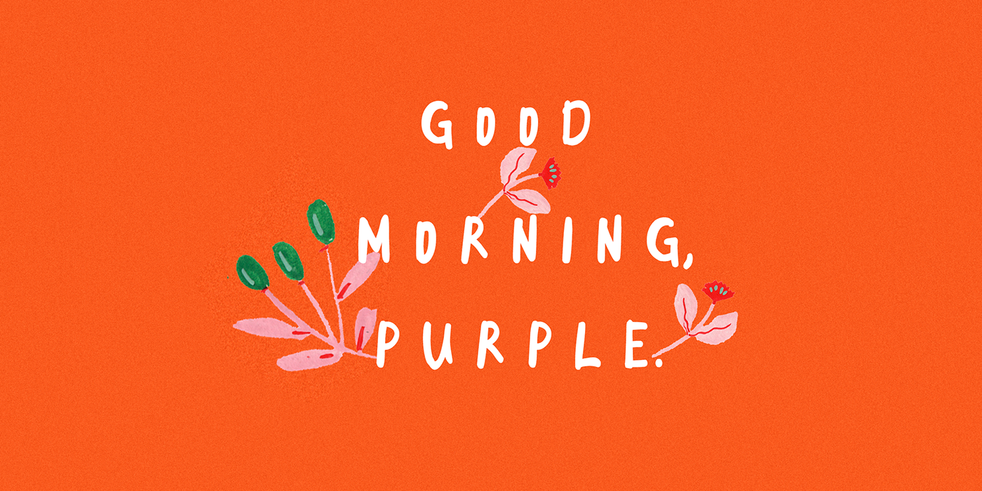GOOD MORNING PURPLE Free Font - script
