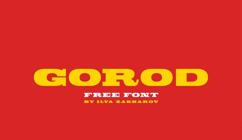 GOROD Free Font - serif