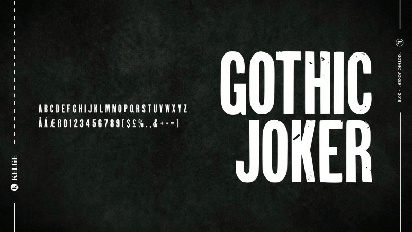 Gothic Joker Free Font - decorative-display