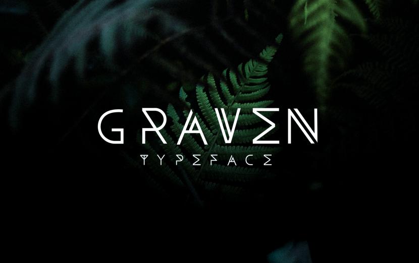 Graven Free Font - decorative