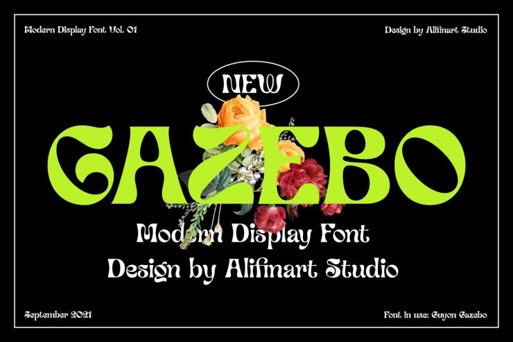 Guyon Gazebo Free Font - decorative-display