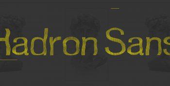Hadron Sans Free Font - decorative