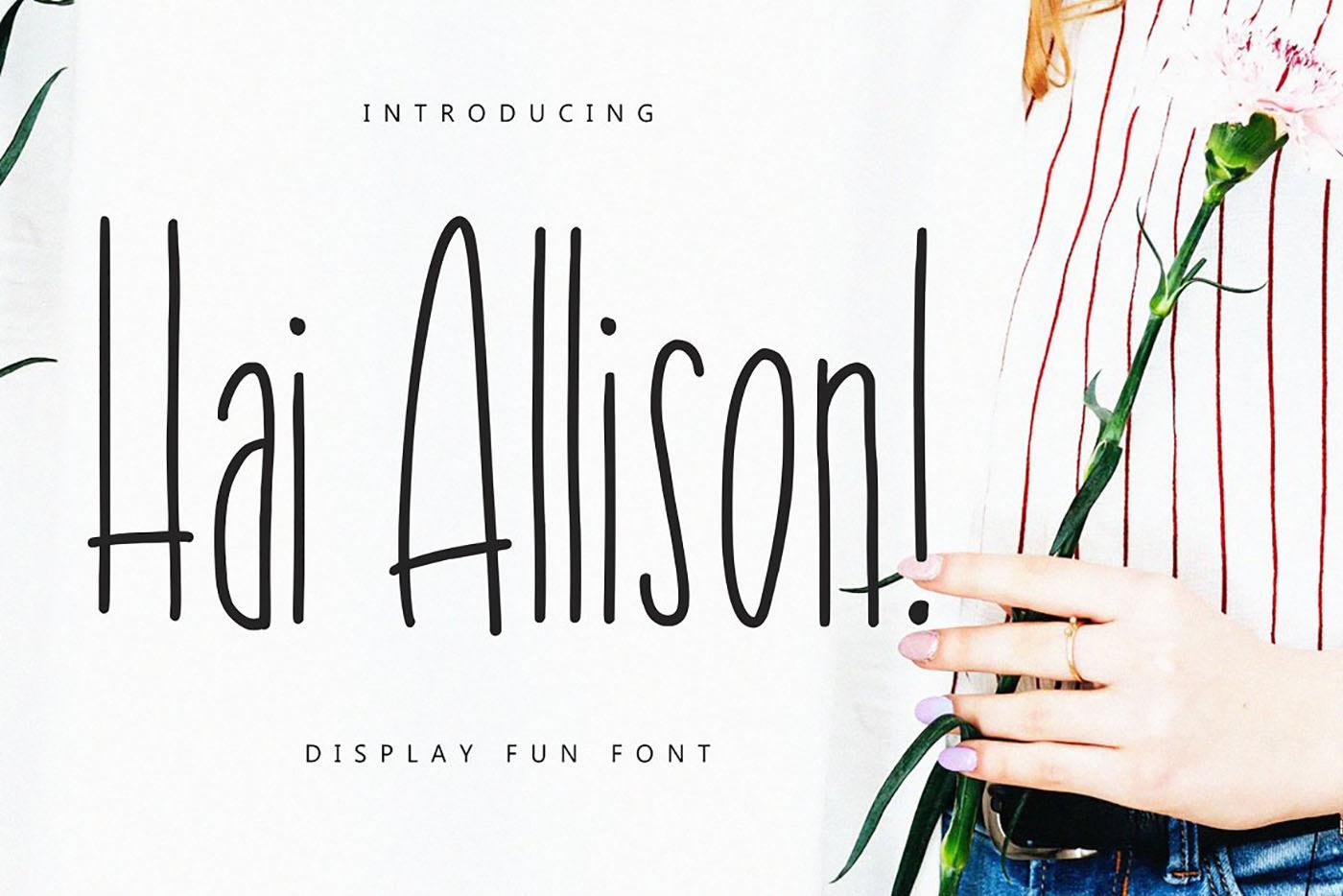 Hai Allison Free Font - script