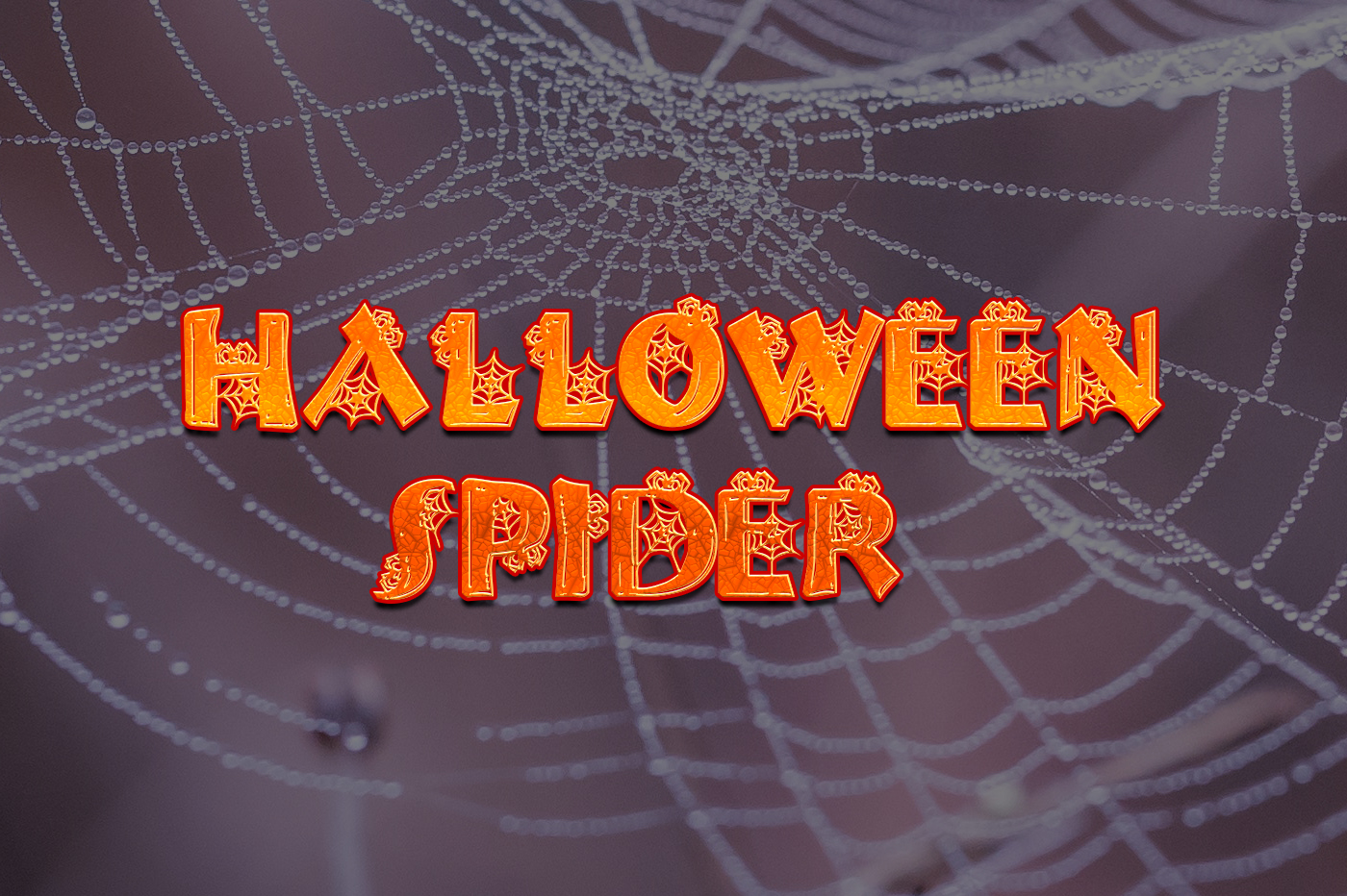 Halloween Spider Free Font - decorative-display