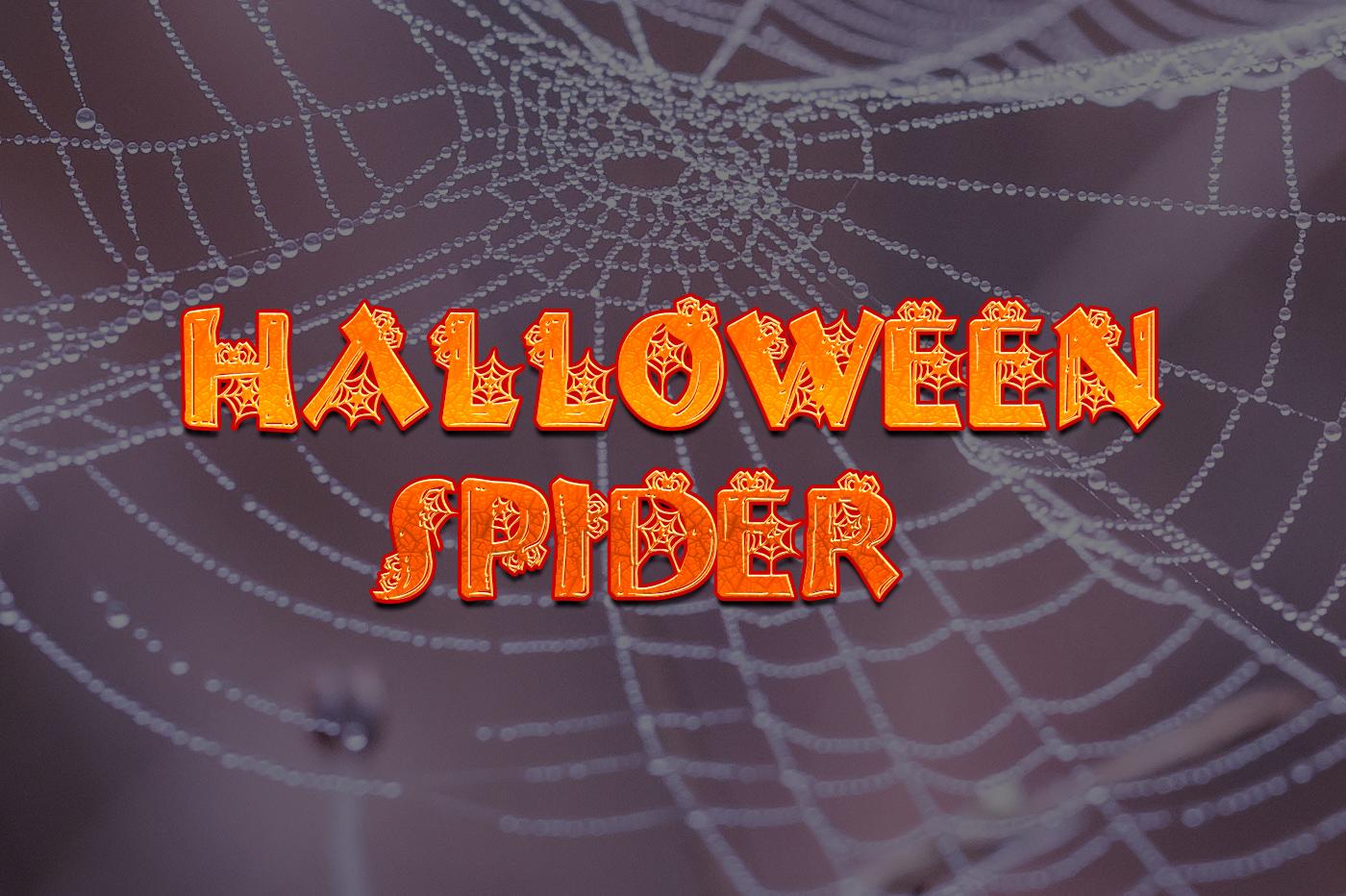 Halloween Spider Free Font - decorative-display