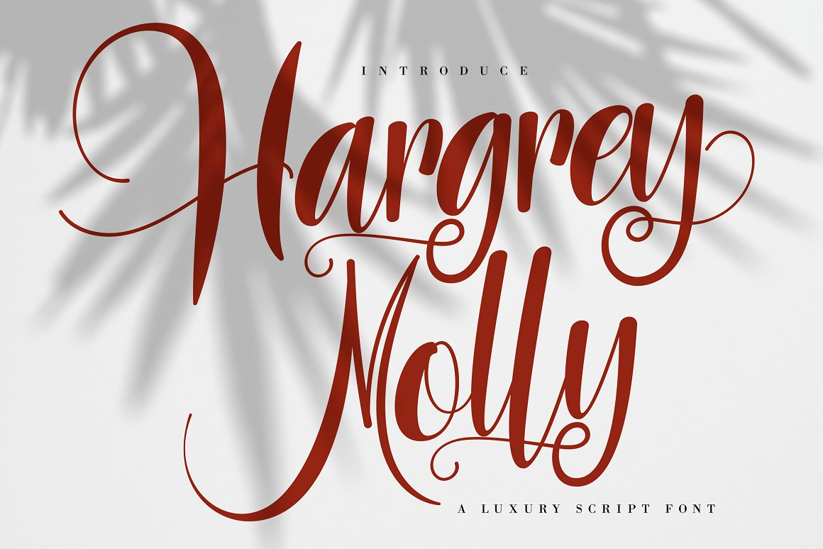 Hargery Molly Free Font - script