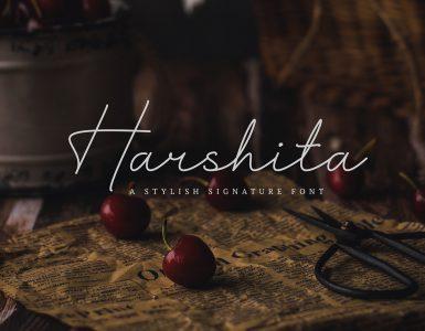 HARSHITA Free Font - script