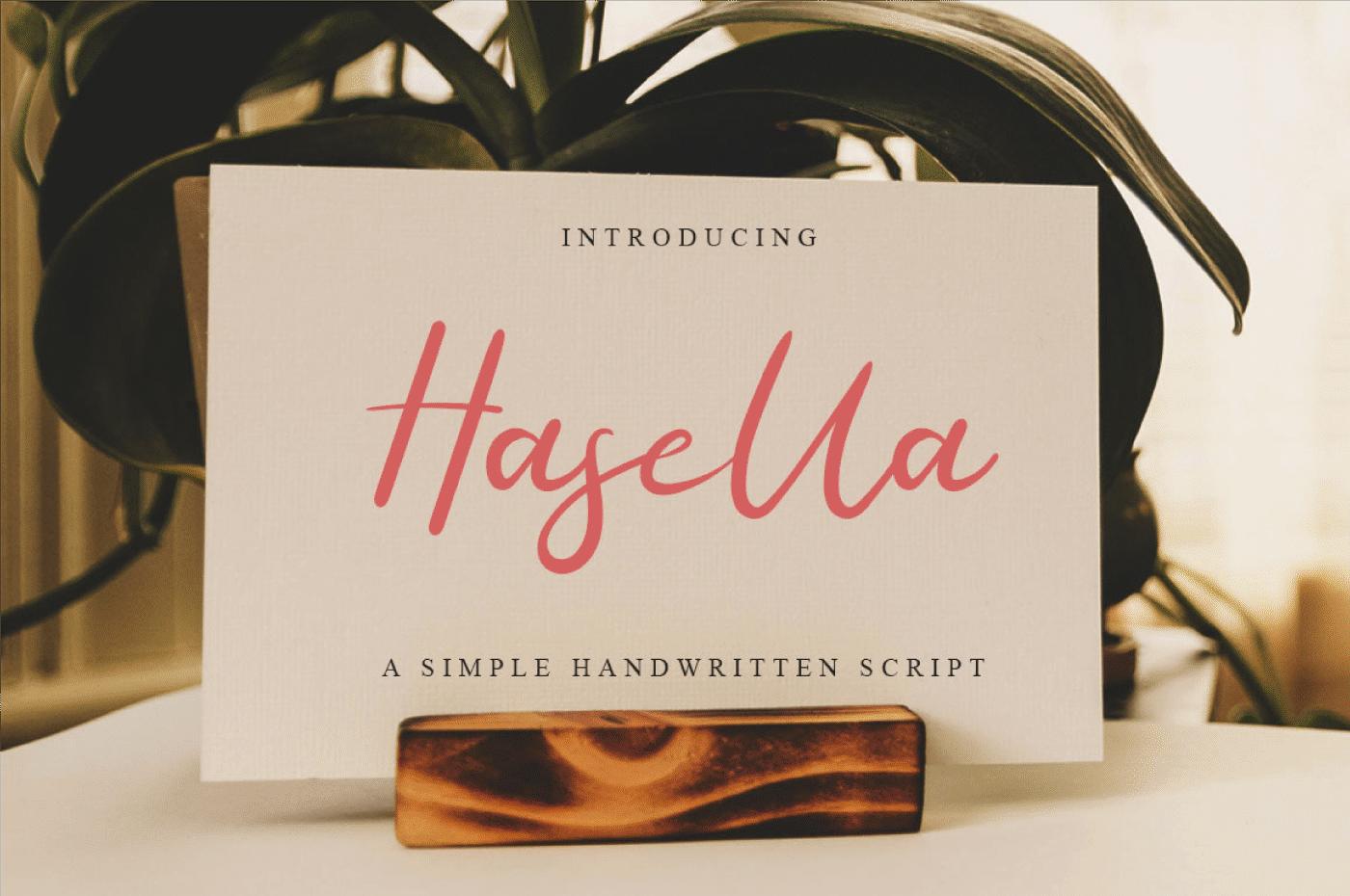 Hasella Free Font - script