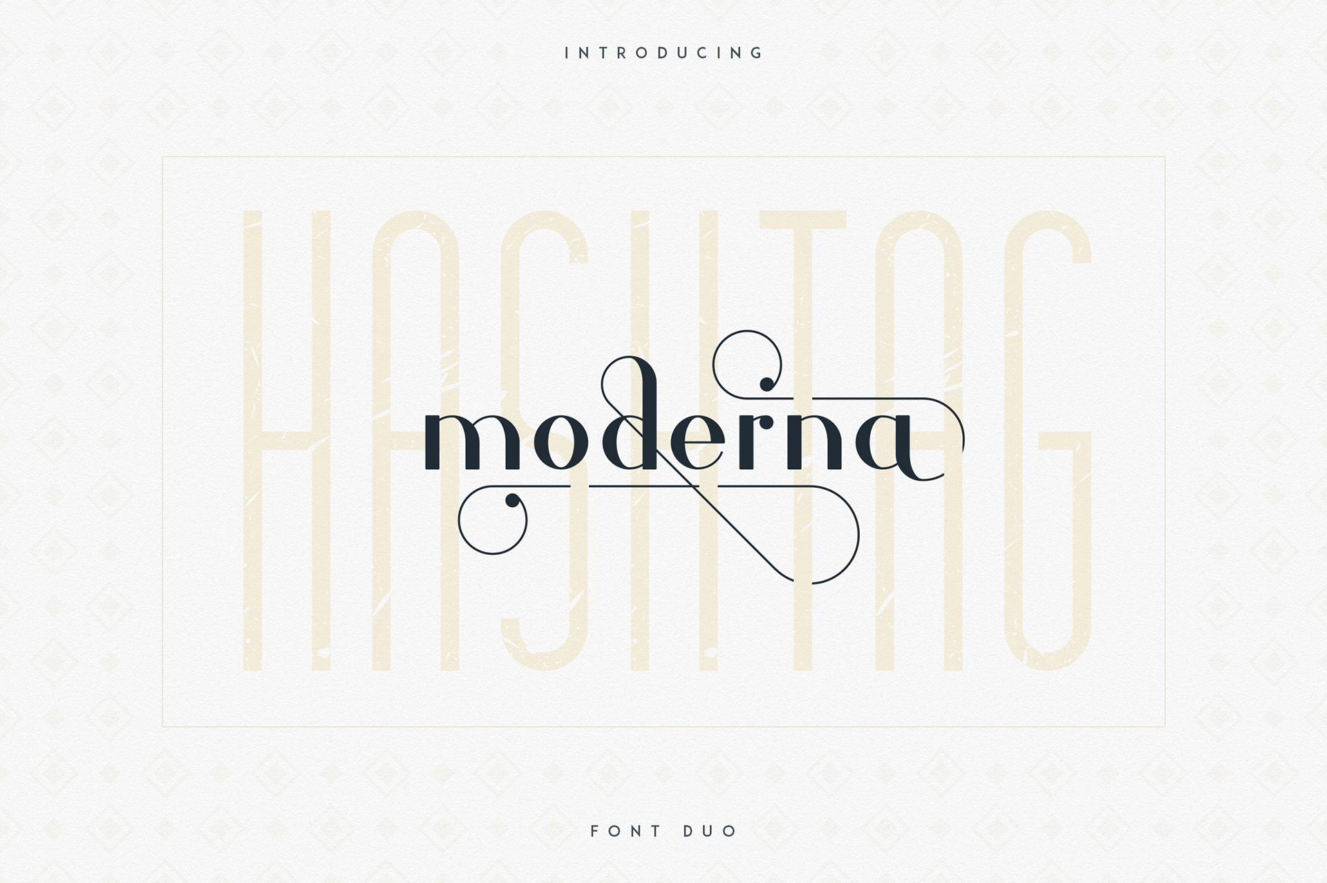 Hashtag Moderna Free Font - serif, decorative-display