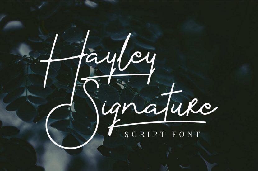 Hayley Free Signature Script Font - script