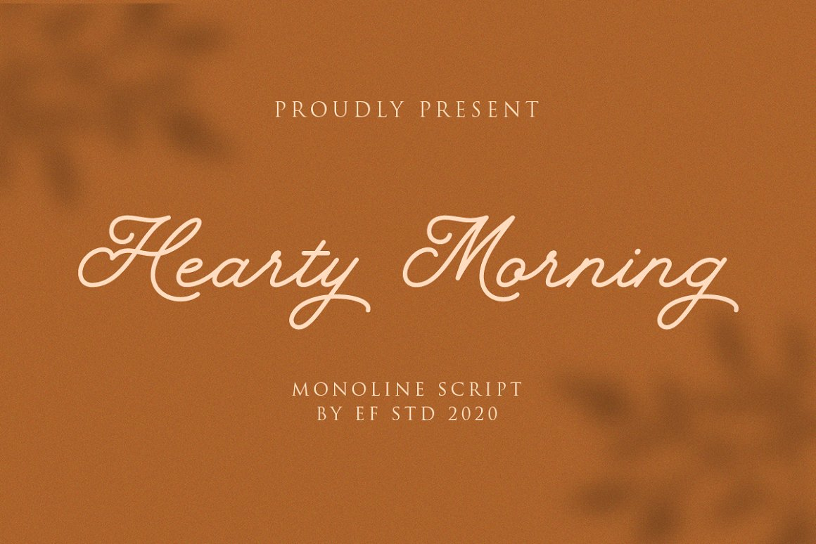 Hearty Morning Free Font - script