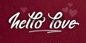 hello love Free Font - script