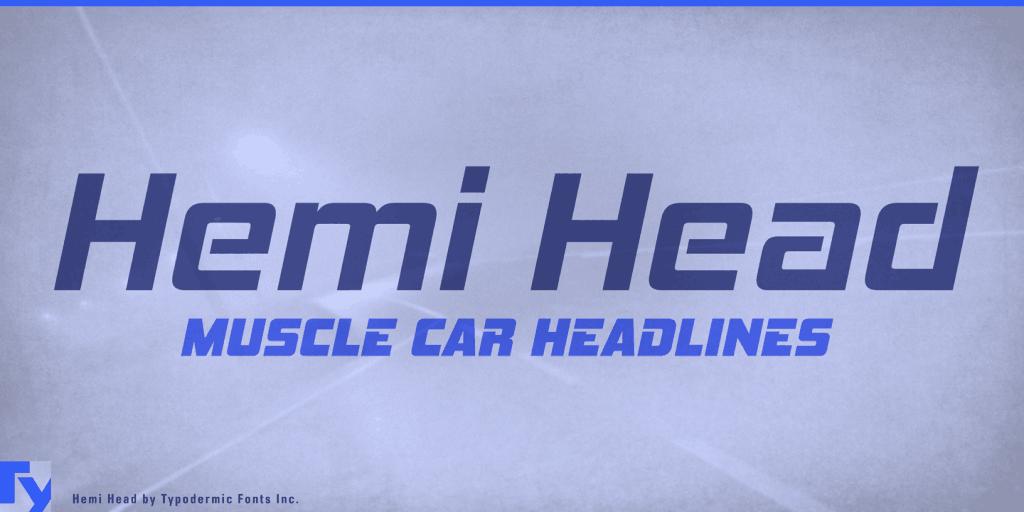 Hemi Head Free Font - sans-serif
