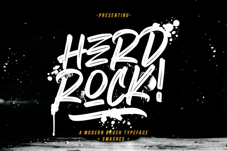 Herdrock Free Font - script